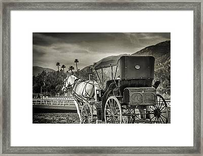 Horse And Buggy Framed Print by Camille Lopez