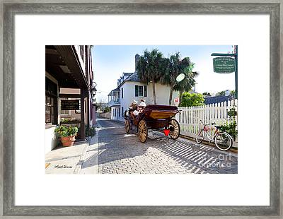 Horse And Buggy Ride St Augustine Framed Print by Michelle Wiarda