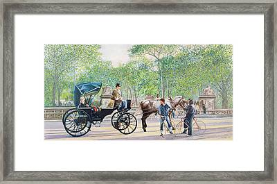 Horse And Carriage Framed Print by Anthony Butera