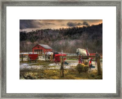 Horse And Carriage Ride - Stowe Vermont Framed Print by Joann Vitali