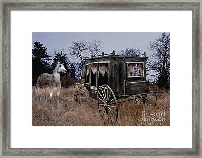 Horse And Carriage Framed Print by Tom Straub