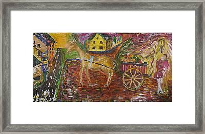 Horse And Cart Framed Print by Dozel Lake