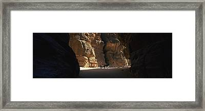 Horse And Cart In The Siq, Wadi Musa Framed Print by Panoramic Images