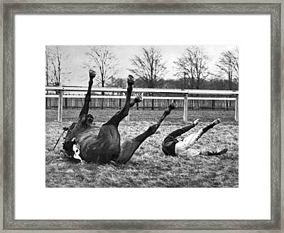 Horse And Rider Fall Alike Framed Print