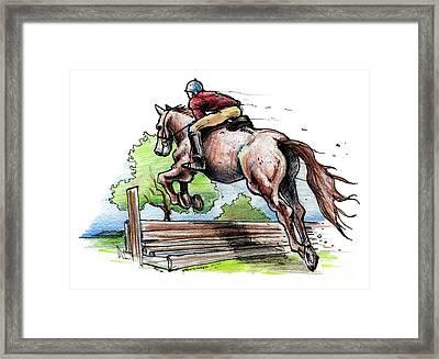 Horse And Rider Framed Print by John Ashton Golden