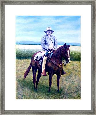 Horse And Rider Framed Print