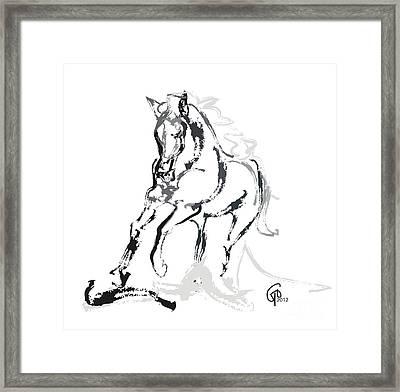 Horse- Andalusian Angel Framed Print by Go Van Kampen