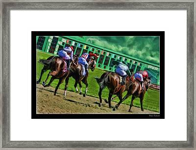 Horse Away Framed Print by Blake Richards