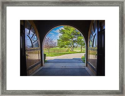 Horse Barn Framed Print
