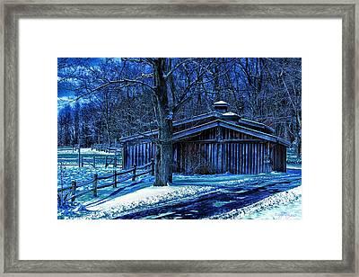 Horse Barn Framed Print by Skip Tribby