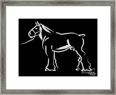 Horse - Big Fella Framed Print by Go Van Kampen