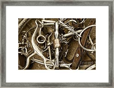 Framed Print featuring the photograph Horse Bits And Reins And Ropes by Lincoln Rogers