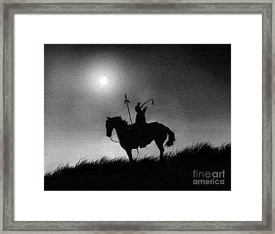 Horse Brave Framed Print by Robert Foster