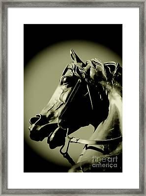 Horse Bronze Framed Print by Craig B