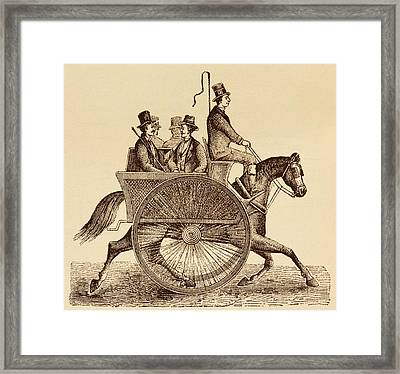 Horse Carriage Illustration Framed Print by David Parker