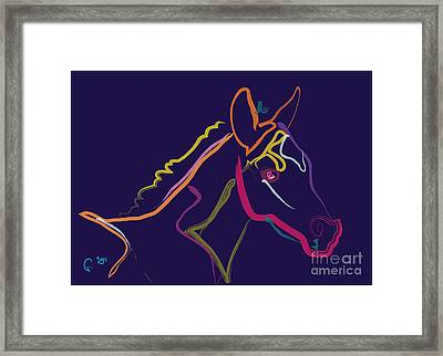 Horse - Colour Filly Framed Print by Go Van Kampen