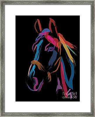 Horse-colour Me Beautiful Framed Print by Go Van Kampen