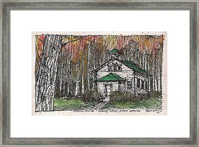 Framed Print featuring the mixed media Horse Cove School by Tim Oliver