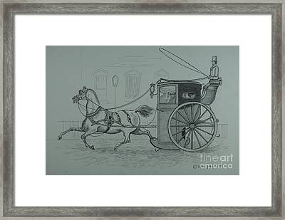 Horse Drawn Cab 1846 Framed Print