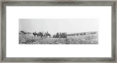 Horse-drawn Car Framed Print by Library Of Congress