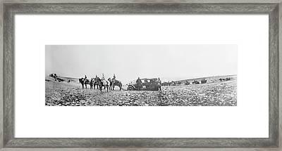 Horse-drawn Car Framed Print