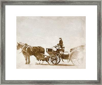 Horse-drawn Carriage Framed Print