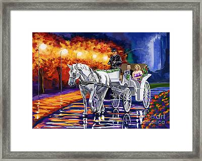 Horse Drawn Carriage Night Framed Print by Tim Gilliland