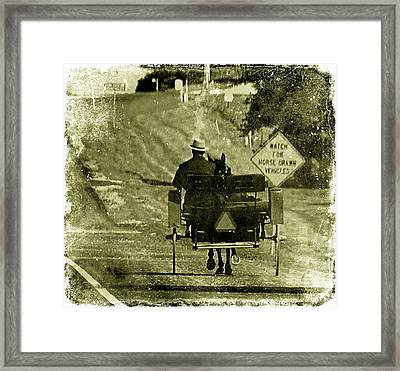 Horse Drawn Vechicles Framed Print by Cassie Peters
