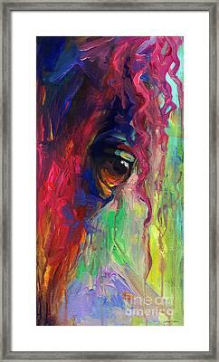 Horse Eye Portrait  Framed Print by Svetlana Novikova