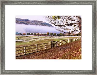 Horse Farm Autumn Framed Print by Tom Singleton