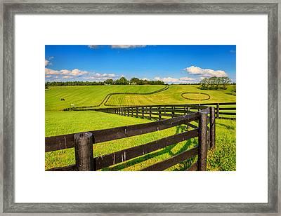 Horse Farm Fences Framed Print