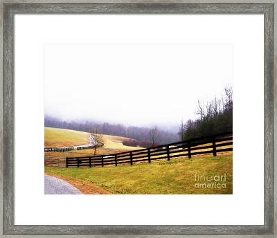 Horse Farm In Rocky Mt Va Framed Print by Angelia Hodges Clay
