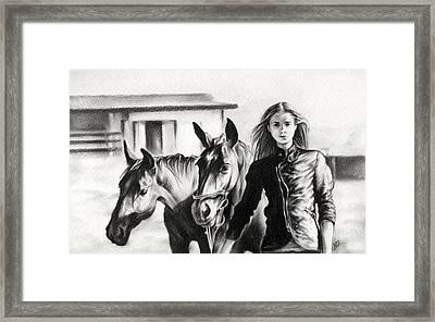 Horse Farm Framed Print