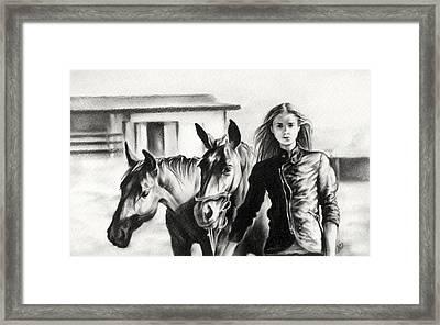 Horse Farm Framed Print by Natasha Denger