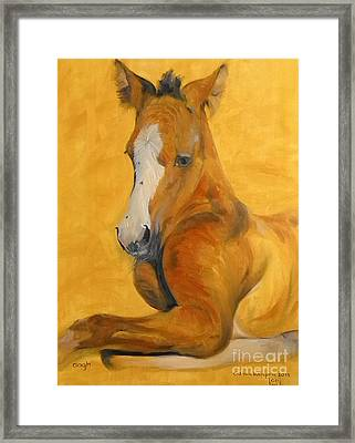 Framed Print featuring the painting horse - Gogh by Go Van Kampen