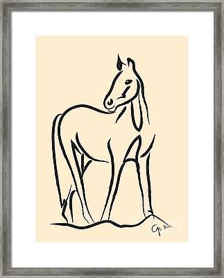 Horse - Grace Framed Print