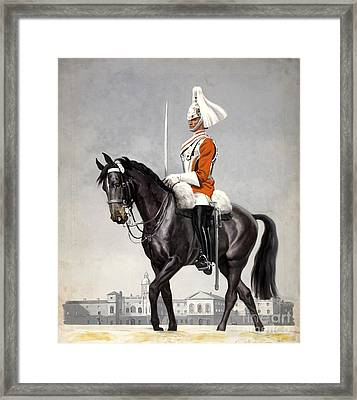 Horse Guards Parade 1939-1946 Vintage Poster Framed Print