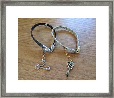 Horse Hair Bracelets Framed Print by Rosalie Klidies