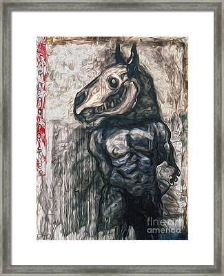 Horse Head Framed Print by Gregory Dyer