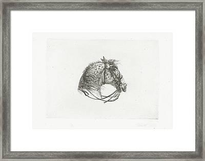 Horse Head, Joannes Bemme, Dirk Langendijk Framed Print