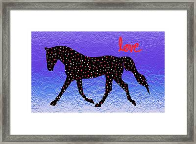 Horse Hearts And Love Framed Print