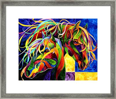 Horse Hues Framed Print by Sherry Shipley