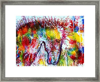 Horse In Abstract Framed Print