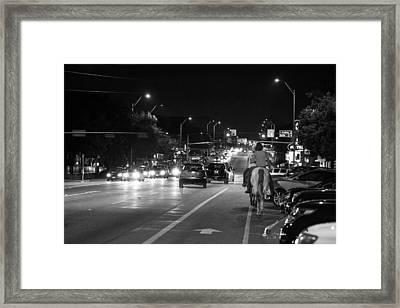 Horse In Austin Framed Print