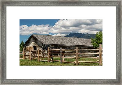 Horse In Barn, Rocky Mountains, Fort Framed Print by Panoramic Images
