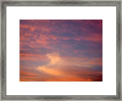 Horse In The Sky Framed Print
