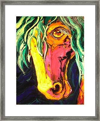 Horse Framed Print by Isabelle Gervais