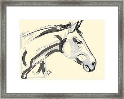 Framed Print featuring the painting Horse - Lovely by Go Van Kampen