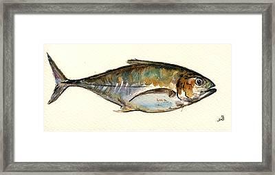 Horse Mackerel Framed Print by Juan  Bosco