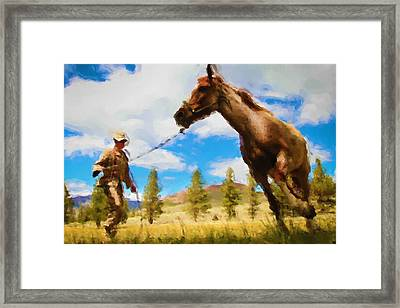 Horse Master Framed Print by Ayse Deniz
